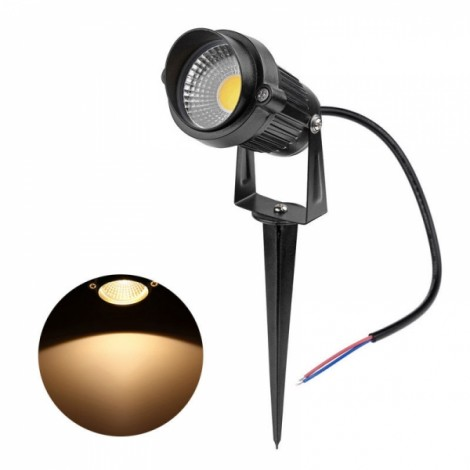 5W COB LED Outdoor Garden Landscape Yard Pool Light Lawn Lamp Warm White