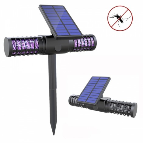 Garden Outdoor Solar Mosquito Killer Light USB Waterproof Insert Mosquito Dispeller Lawn Lamp