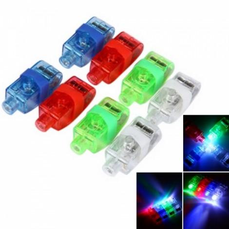 8pcs LED Finger Laser Beams Ring Light Multicolor