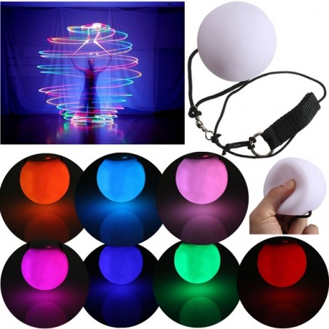 Fashion LED POI Thrown Balls for Professional Belly Dance Level Hand Props