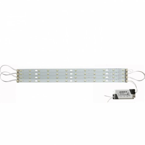40cm 24W 5730 LED Bar Strip Light w/ Power Driver Warm White Light