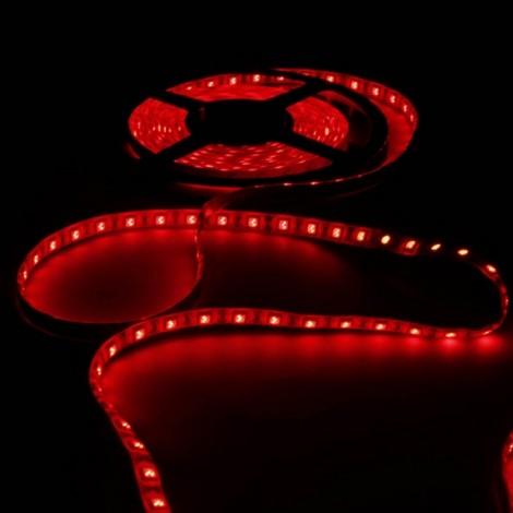 36W SMD5050 5m 300LEDs Red Light Epoxy Waterproof LED Light Strip (White Lamp Plate) (12V)