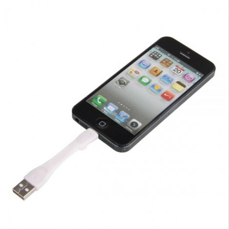 Rubber Short Portable 8pin Data Cable for iPhone 6/Plus/5/5C/5S/iPad Mini/Air/iTouch 5 White