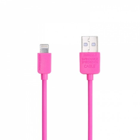 REMAX Fashionable Bright Color 8-Pin Charging Data Sync Cable for Apple Devices (1M) Rose Red