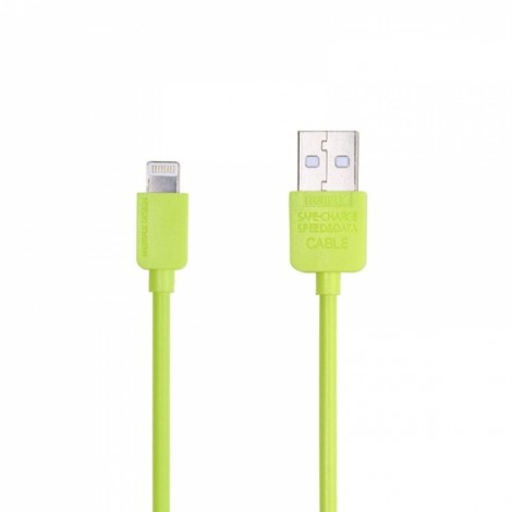 REMAX Fashionable Bright Color 8-Pin Charging Data Sync Cable for Apple Devices (1M) Green