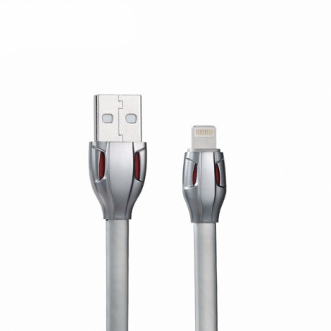 REMAX Snake Design 2.1A Fast 8-Pin Charge Data Sync Cable for iPhone/iPad/iPod Gray