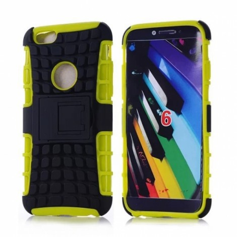 """Unique Tire Texture Silicone & PC Back Cover Holder for iPhone 6/6S 4.7"""" Green"""