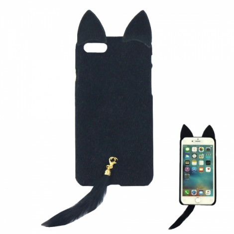 """Fox Shaped Back Case Protective Shell for 4.7"""" iPhone 6/6S Black"""