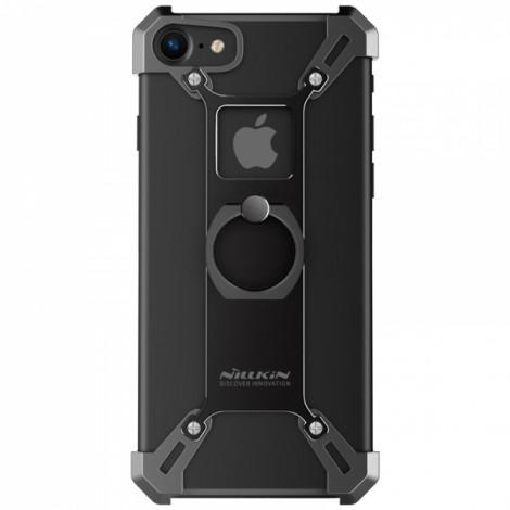 Nillkin Barde Metal Ring Bracket Holder Case Scratch-resistant Crashproof Cover Bumper for iPhone 7 Black