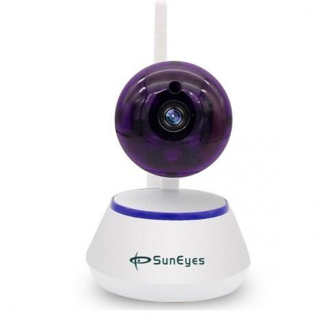 SunEyes SP-S701W 720P HD Mini P2P IP Camera Wireless Wifi Pan/Tilt Two Way Audio Video Push Alarm with Motion Detection Free APP UK Plug