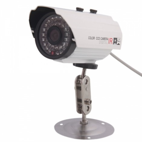 """1/3"""" CCD 600TVL 36-IR LED Night Vision Security Camera with Black Cover"""