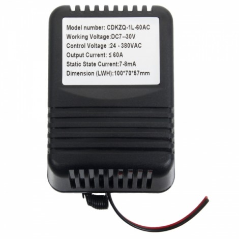 CDKZQ-1L-60AC 7-30V Plastic Remote Control Switch Black