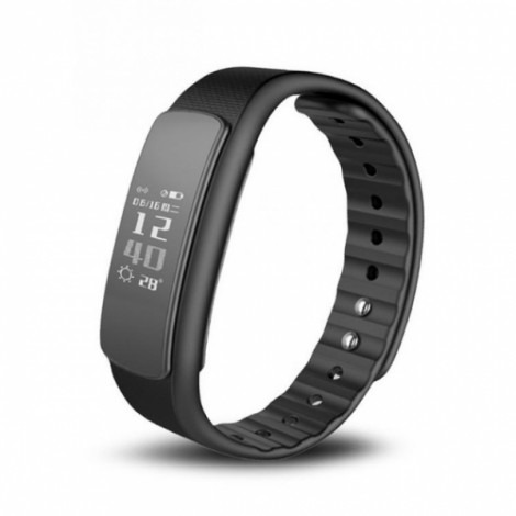 IWOWN i6 HR Fitness Tracker Bluetooth 4.0 Smart Bracelet Watch - Black