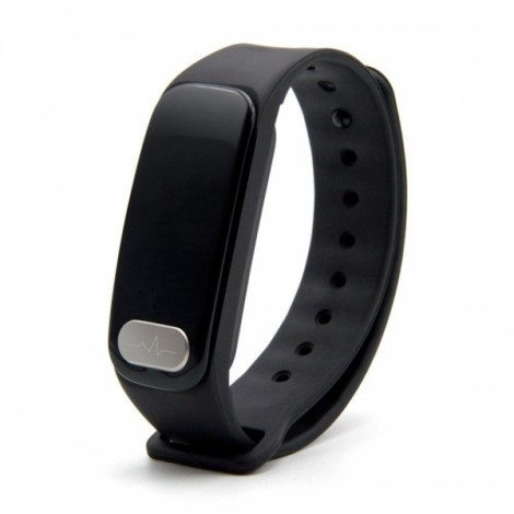 R11 0.96inch Heart Rate Monitor Bluetooth Smart Watch for iOS Android Black