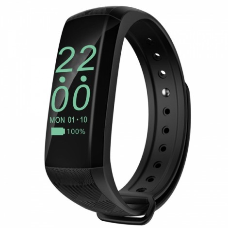 M2z Stylish Waterproof Bluetooth 4.0 OLED Screen Bracelet Black
