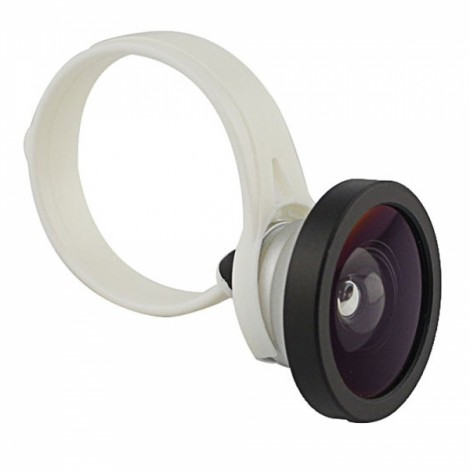 Universal Lightweight Clip-on Fish Eye Lens for iPhone 5/4/4S Tablet PC Cellphone White & Black & Silver