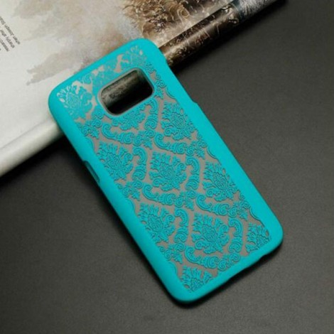 Retro Engraved Pattern Matte PC Back Case Cover for Samsung Galaxy S6 Edge Plus Green