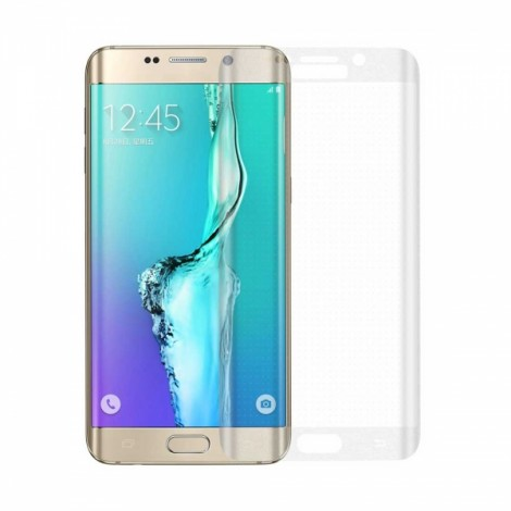 "Angibabe 0.2mm 2.5D Curved Surface Full Cover 9H Tempered Glass Screen Protector Film for Samsung Galaxy S6 Edge Plus G9280 5.7"" Transparent"