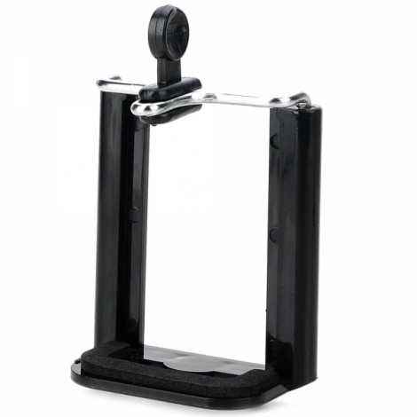 "1/4"" Screw Nut Plastic Desktop Cellphone Holder for MP4/GPS/iPhone 4/5/Samsung and More Black"
