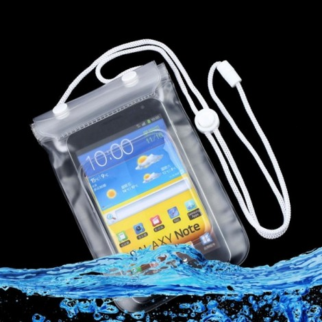 Waterproof Scrub Style Mobile Phone Protective Case Transparent
