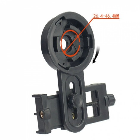 Universal Stand Mount Bracket for Spotting Scope Astronomical Telescope for Mobile Phone Mobile Camera Black