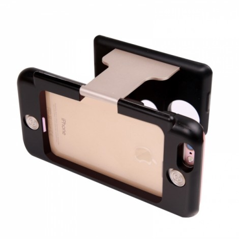 """3D VR CASE 2nd Virtual Reality Glasses for 4.7"""" iPhone 6 / 6S Golden"""