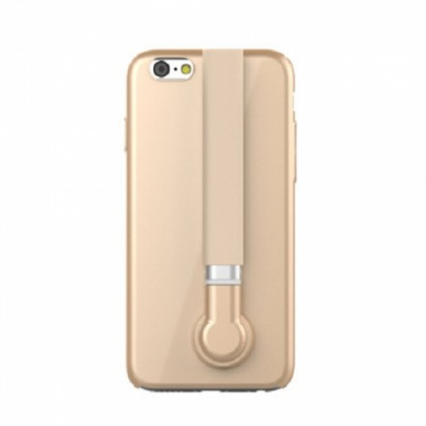 Mares 3-in-1 Selfie Stick Stand Holder Phone Case for iPhone 6/6S Golden