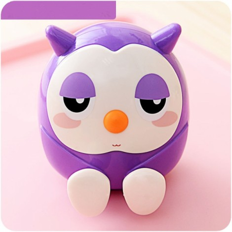 Owl Shape Multifunctional Mobile Phone Stand Holder Piggy Bank Home Decor Purple