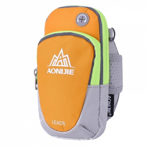 "AONIJIE Outdoor Waterproof Sports Gym Running Armband Bag Phone Case for Cellphone Under 5.5"" Yellow"