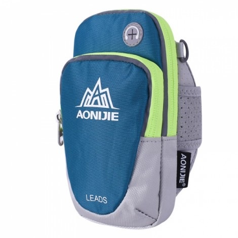 """AONIJIE Outdoor Waterproof Sports Gym Running Armband Bag Phone Case for Cellphone Under 5.5"""" Green"""