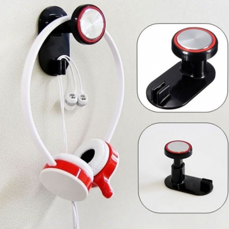 Smart Headphone Holder Hanger Wall PC Monitor Stand Red