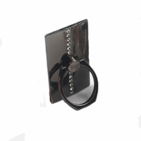 360 Degree Rotating Luxury Diamond Ring Tablet Mount Stand Holder Phone Accessory Universal for iPhone Motorola Samsung LG iPad Black