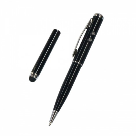Model AT-15 Laser / LED Lights Four-in-one Multi-function Stylus Black