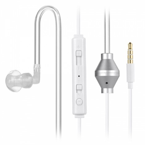 Intelligent Switching Multifunctional Anti-Radiation In-Ear Headset Earphone with MIC White