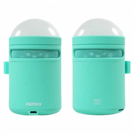 Remax Portable Bluetooth 4.0 Speaker Alarm Clock with LED Table Lamp Color Changing Mode for Cellphones Tablets Computers Laptops Blue