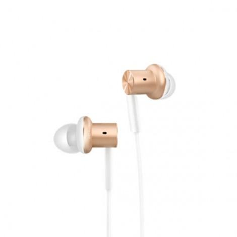 Original Xiaomi Hybrid Dual Drivers Wired Control Earphone Headphone with Mic Golden