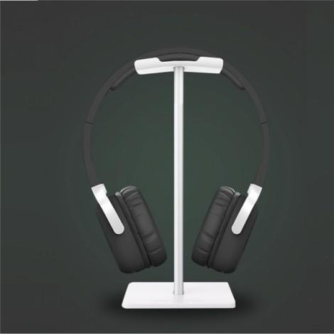 Headset Hanger Holder Headphone Desktop Display C-Shape Stand White