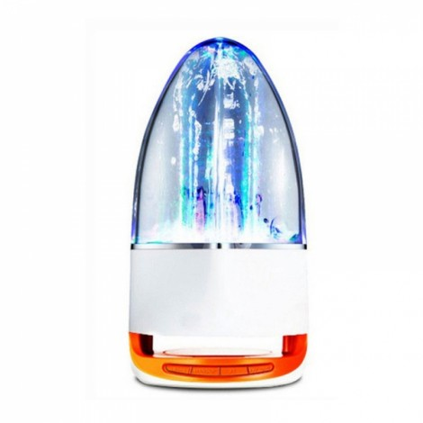 Cool Dancing Water Spray Lamp Bluetooth Stereo Colorful Lights Speaker Music Fountain Orange