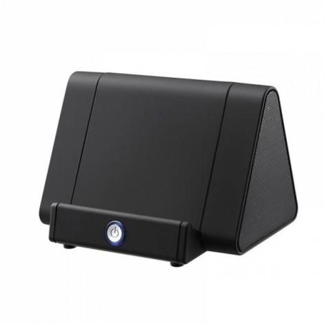 Wireless Smart Induction Sensor Speaker Portable Powered Sensing Speaker for Mobile Phone Black
