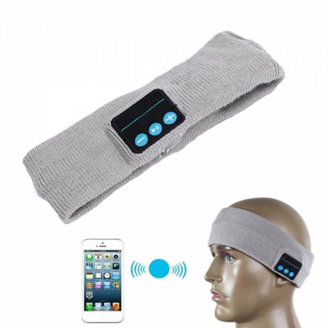 Cwxuan Bluetooth V3.0+EDR Stylish Head Band Wireless Earphone with Voice Prompt Light Gray