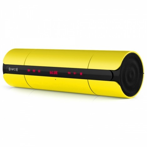 Portable NFC FM HIFI Bluetooth Wireless Stereo Super Bass Speaker Yellow