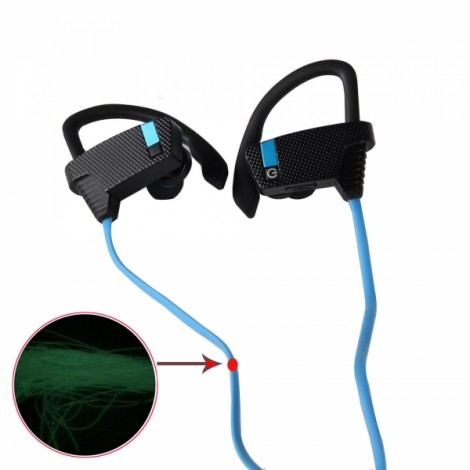 BH-2 New Music Smart Night Light Movement Bluetooth Headset Blue & Black