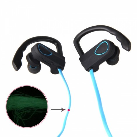 BH-3 New Music Smart Night Light Movement Bluetooth Headset Blue & Black