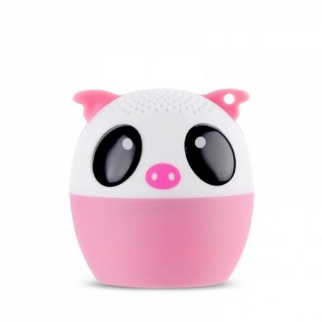 Ultra Mini Cartoon Cute Bluetooth Speaker Outdoor Music Bass Speakers Subwoofer Loudspeakers Support Phone Self Timer & Handsfree Pig Pink