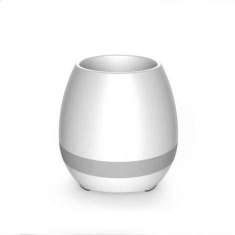 Smart USB Charge Bluetooth Music Flowerpot Electrostatic Induction Night Light Flower Pot White
