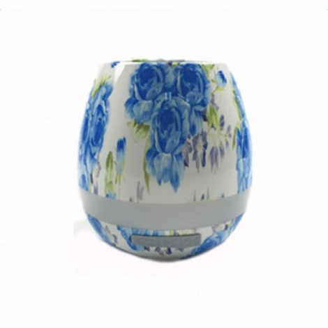 Smart Music Touch Sensor Bluetooth Stereo Piano Sound Music Flower Pot Light Blue Snowflakes
