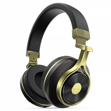 Bluedio T3 Wireless Bluetooth Headphone Headset with Microphone - Golden