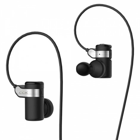 CCK KS Parkour Bluetooth Earphones Wireless Sports Headphones HIFI Bass Stereo Earbuds With Microphone Voice Prompt Handsfree Sweatproof DSP Noise Cancelling for Cellphone - Black