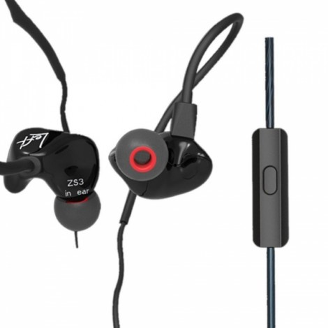 KZ ZS3 Hifi 3.5mm In-ear Earphone Noise Reduction Sports Headphone with Mic