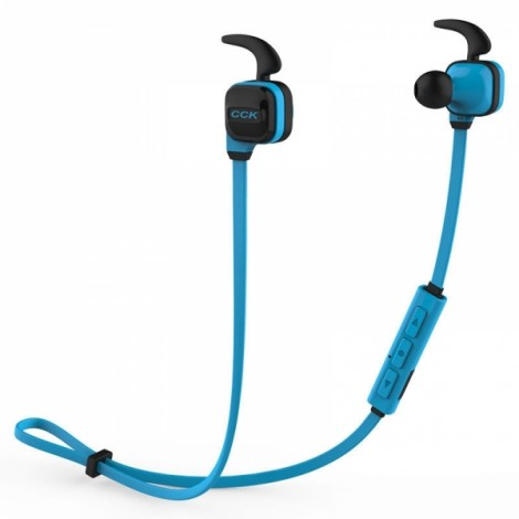Bluedio CCK-KS Wireless Stereo Bluetooth 4.1 Sports Headset Bass Earphones Blue